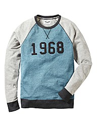 Label J Number Crew Sweatshirt Long