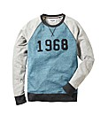 Label J Number Crew Sweatshirt Reg