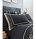 Midnight Quilted Pillowshams