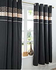 Midnight Eyelet Curtains