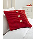 Chunky Knit Square Filled Cushion