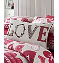 Hearts Boudoir Filled Cushion