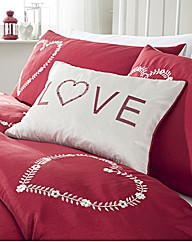 Decorative Hearts Boudoir Filled Cushion