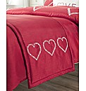 Decorative Hearts Bed Runner