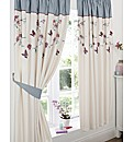 Butterfly Lined Curtains & Tie Backs