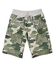 Label J Camouflage Print Short