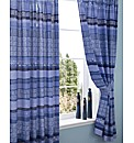 Bazaar Pencil Pleat Lined Curtains & Tie