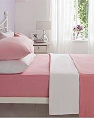 Flannelette Plain Dyed Flat Sheet