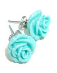 Funky Jewellery Rose Resin Earrings