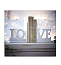 Wooden Love Book Ends