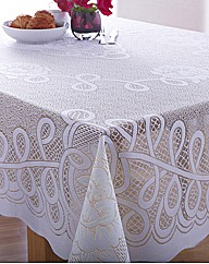 Easy Care Reversible Lace Table Cloth
