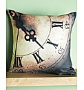 Clock Print Filled Cushion