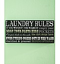 Laundry Rules Wall Art