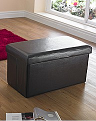 Faux Leather Storage Seat