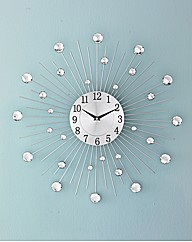 Jewelled Mirror Glass Clock