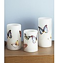 Set of 3 butterfly Candles