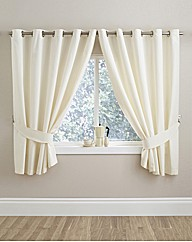 Plain Dye Panama Eyelet Kitchen Curtains
