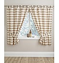 Charlotte Check Tab Top Kitchen Curtains