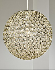 Large Acrylic Ball Non-Electric Pendant