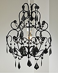 Flocked Chandelier Pendant