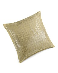 Metallic Linen Look Filled Cushion