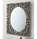 3D Rose Border Rectangle Mirror