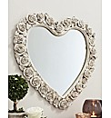 3D Rose Border Heart Mirror