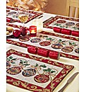 Christmas Baubles Tapestry Placemats