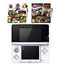 3DS Console - White + 2 Games