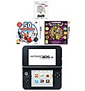 3DS XL Console - Silver + 2 Games + AC