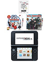 3DS XL Console - Blue + 2 Games + AC