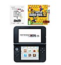 3DS XL Console - Red + 2 Games + AC
