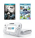 White Wii U Basic Pack + 2 Games