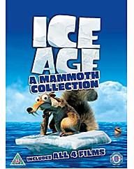 Ice Age 1-4 Plus Mammoth Christmas DVD