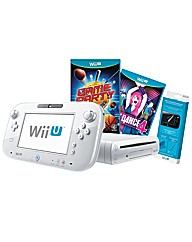 White Wii-U Basic pack + Just Dance 4