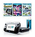 Black Wii-U Premium Pack+Remote+ 2 Games