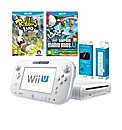 White Wii-U Console Pack + 2 Games