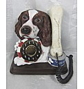 Spaniel and Bone Novelty Phone - Brown