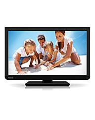 Toshiba 22in LED DVD Combi - Black