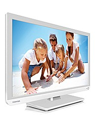 Toshiba 24in LED/DVD Combi - White
