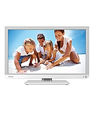 Toshiba 22in LED/DVD Combi - White