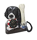 Spaniel and Bone Novelty Phone - Black