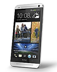 HTC One Sim Free Mobile Phone Silver