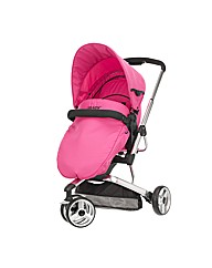 OBaby Chase 3 Wheel Pushchair Pink