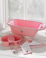 Lollipop Lane Pink Bird Bath Set
