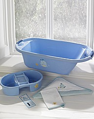 Lollipop Lane Blue Whale Bath Set