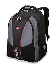 Wenger Black/Grey/Red Laptop Backpack