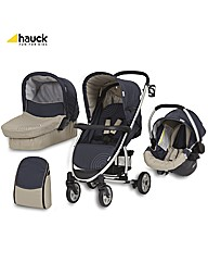 Hauck Malibu All in One Pushchair Almond