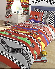 Racing Car Duvet Cover Set