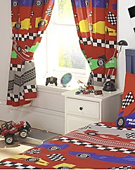 Racing Car Curtains & Tie Backs